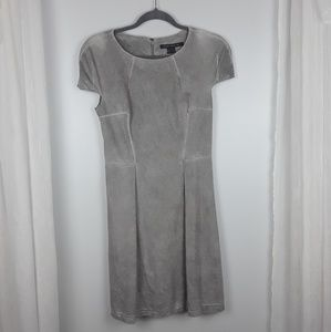 French Connection | gray faux suede dress